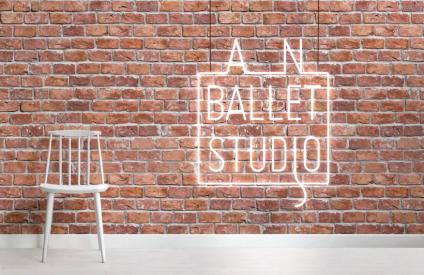 an ballet studio neon
